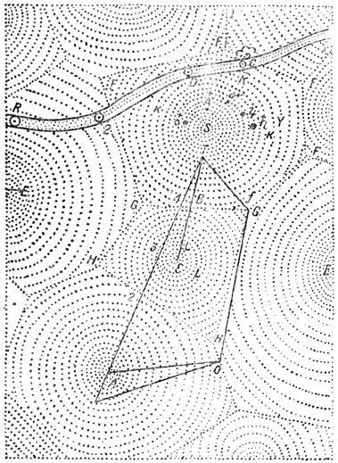 Декартова диаграмма вихрей вокруг Солнца и звезд.