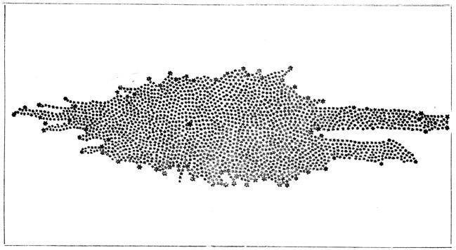 Предложенная В. Гершелем в 1789 г. схема Галактики