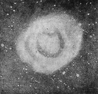 Светлая туманность округлой формы в созвездии Лисички.