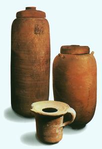 Кувшины и чернильница из Кумрана